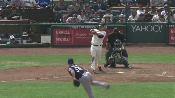 Parker's RBI double hands Giants the lead
