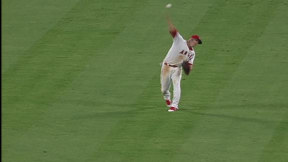 Trout throws out potential go-ahead run at home