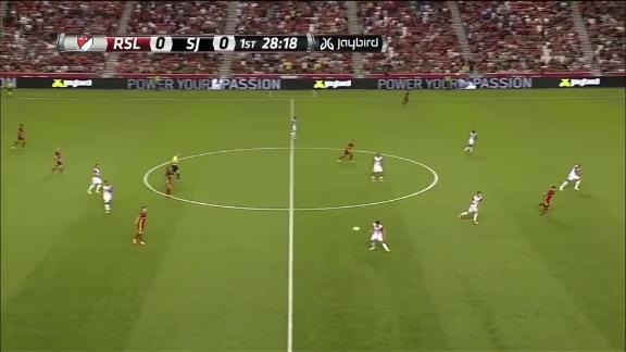 RSL 4-0 San Jose: RSL control 10-man Quakes - via MLS