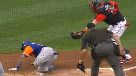 Taylor throws out Cabrera at the plate