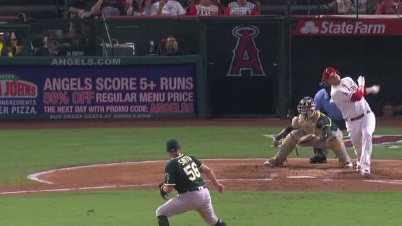 Cron hits a pair of homers to lead Angels past A's