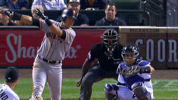 Panik records five hits against Rockies