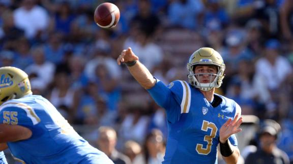 Rosen throws five TDs in win over Hawai'i