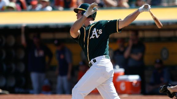 A's complete 4-game sweep of Astros