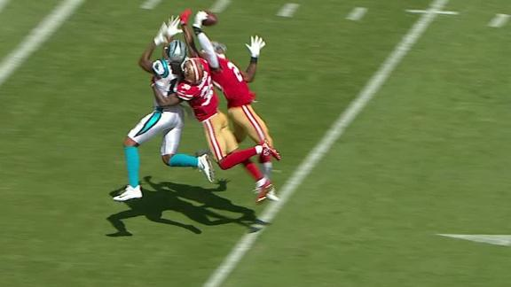 49ers safety makes incredible one-handed INT