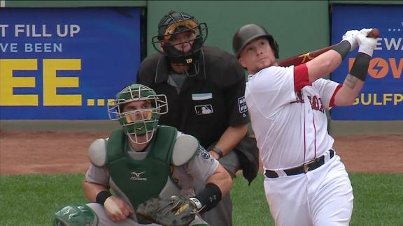 Vazquez homers over Green Monster