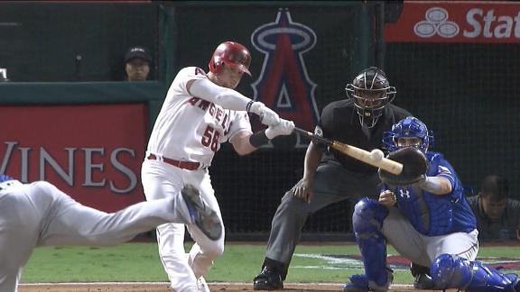 Angels on the board with Calhoun's RBI double