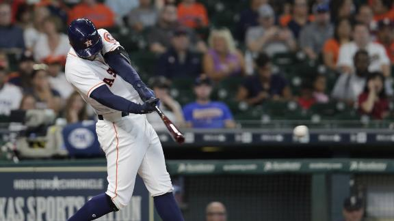 Astros tag Mariners for 4 runs in 2nd inning