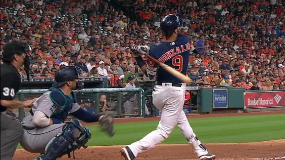 Gonzalez's HR extends Astros lead vs. Mariners