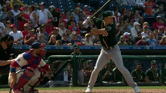 A's hit back-to-back home runs in the 4th