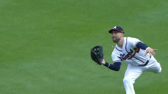 Inciarte ends inning with diving catch against Mets