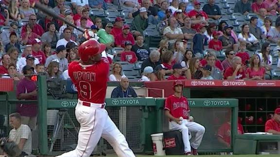Upton powers Angels with two homers