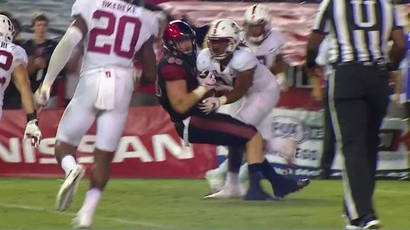 Wells' second effort gives San Diego State upset of Stanford