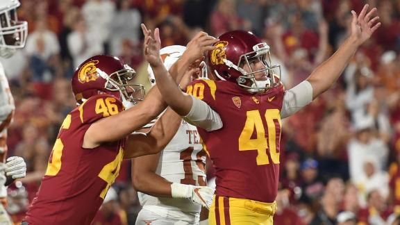USC kicker the hero in 2OT victory