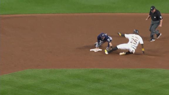 Pirates lose as Polanco attempts double, tagged out