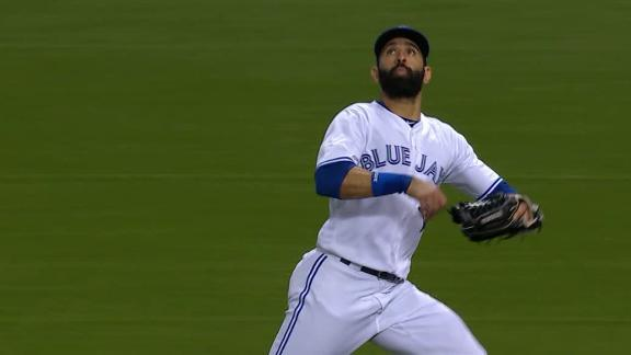 Bautista shows off the glove with two great grabs