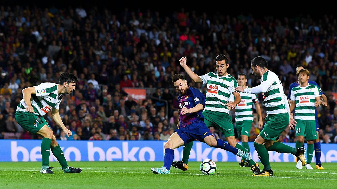 El 300° gol de Messi en el Camp Nou, desde cada ángulo