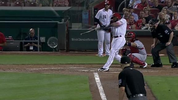 Ervin narrows lead with 2-run homer