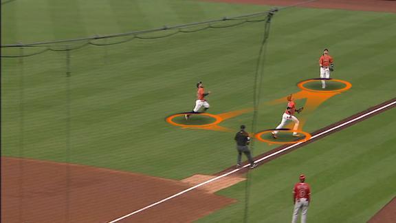 Altuve beats teammates to a catch
