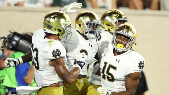 Notre Dame cruises past Michigan State