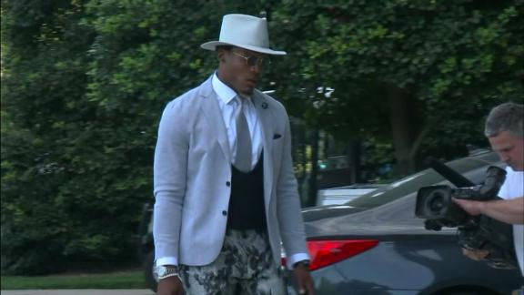 Newton arriving in style before Saints game