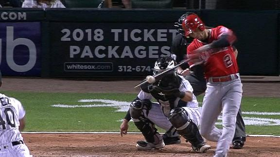 Angels take the lead with RBI double
