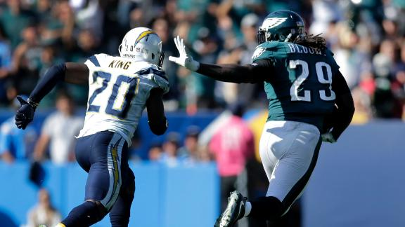 Blount's big rushing day paces Eagles