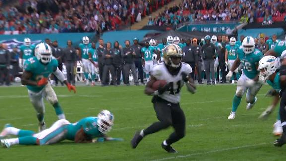 Kamara TD punctuates Saints domination