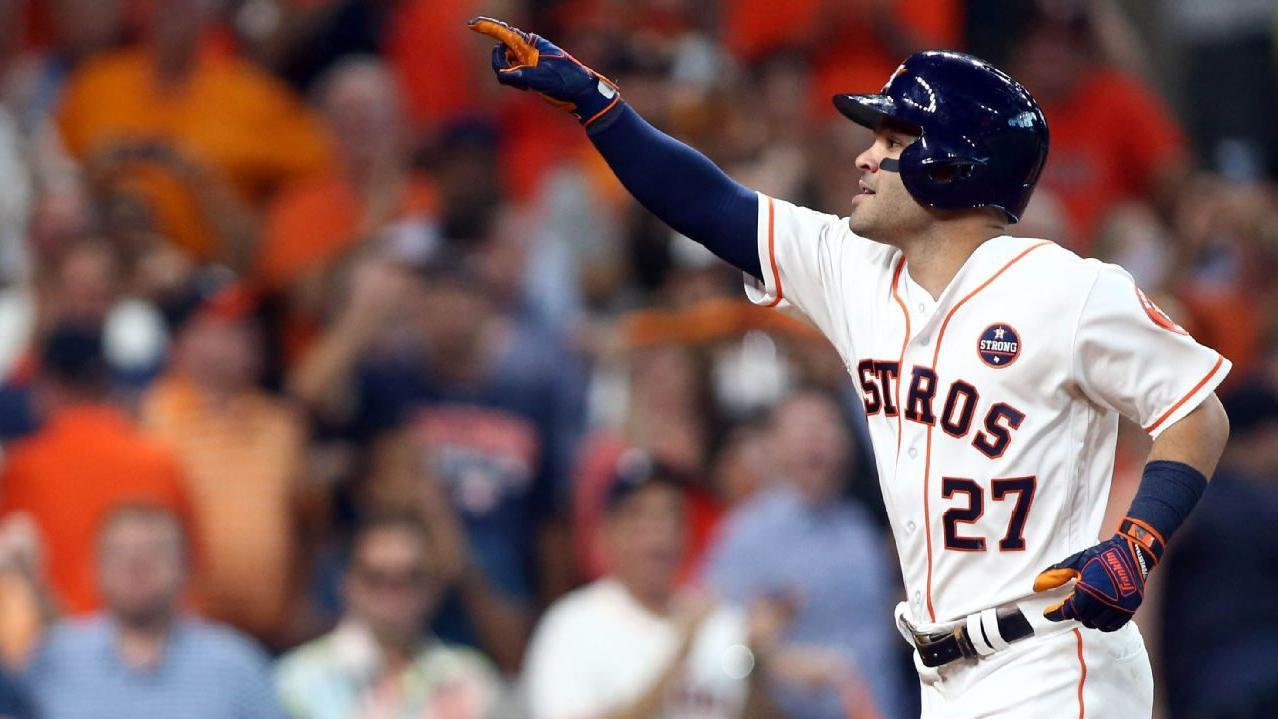 Altuve slams three homers