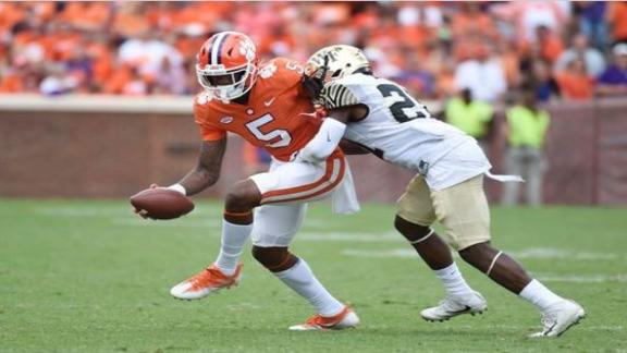 Clemson overcomes Bryant injury in 28-14 win
