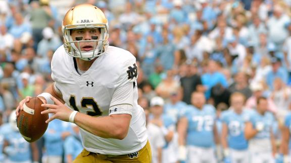 Book wins first start for Notre Dame