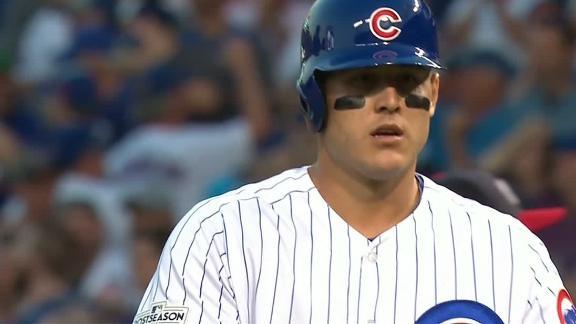 Rizzo's bloop falls between three fielders