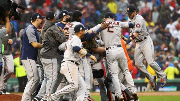 Astros advance to ALCS with 5-4 win over Boston