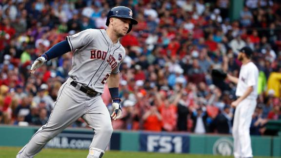 Astros rally to close out Red Sox