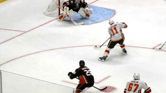 Backlund's third-period goal secures win over Ducks