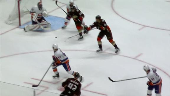 Rakell deflects Fowler's shot for go-ahead goal