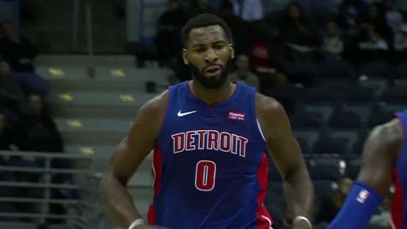 Bradley, Drummond connect for dunk