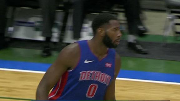 Drummond drains jumper in face of defender
