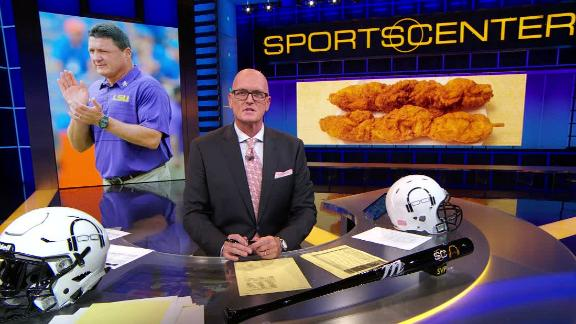 SVP can get behind Orgeron's chicken on a stick