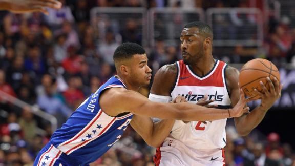 Wall, Wizards outlast young 76ers