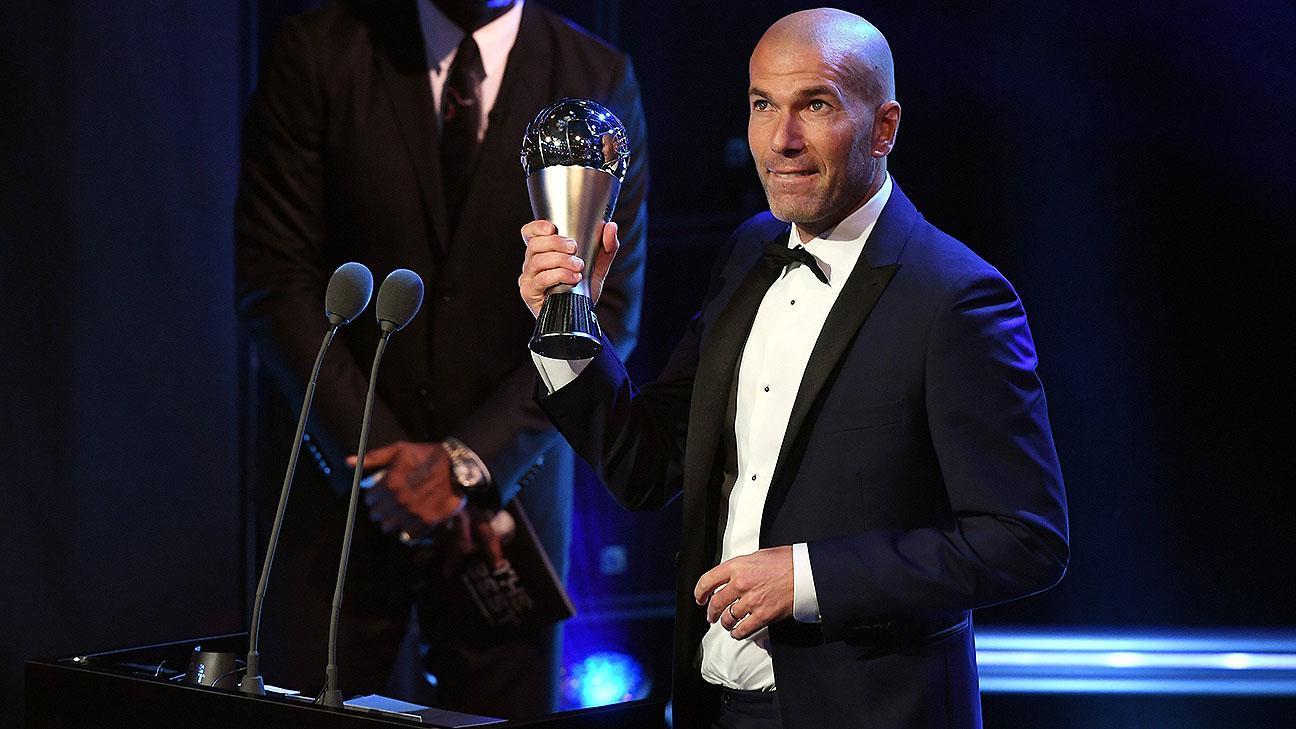 Zinedine Zidane, el mejor entrenador del año