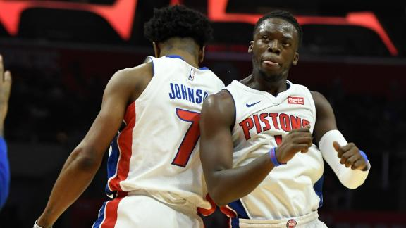 Pistons hand Clippers first loss