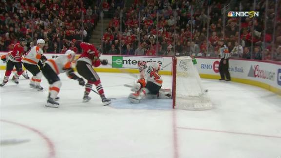 Anisimov puts in rebound on power play
