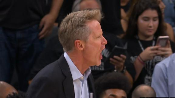 Kerr upset and held back by assistant coach
