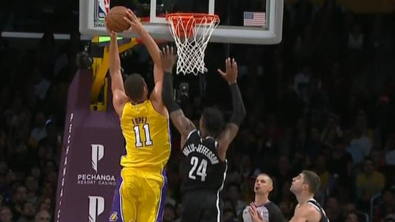 Lopez throws down two-handed hammer