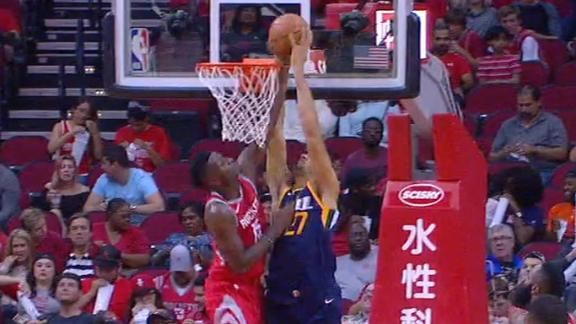 Capela denies Gobert at the rim