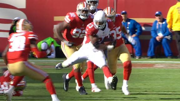 Peterson runs all over 49ers