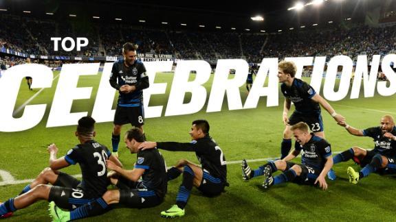 WATCH: Top 5 goal celebrations - Via San Jose