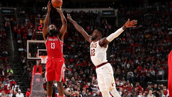 Harden's triple-double bests LeBron, Cavs