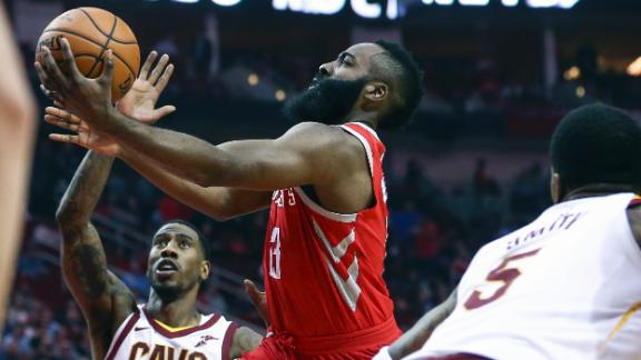 Rockets edge Cavs behind Harden's triple-double